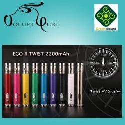 Batterie cigarette electronique GS EGO II TWIST 2200 mAh VV