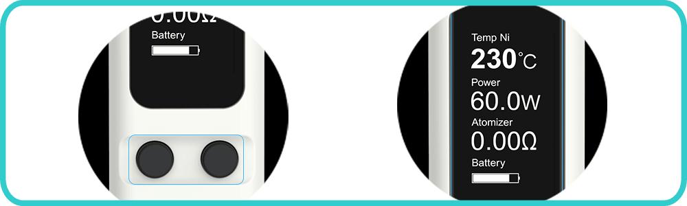 Box EVIC VTC Mini ecran- Voluptycig