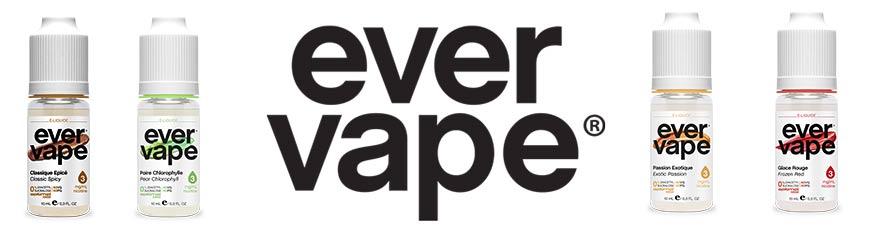 E-liquide pour cigarette electronique Ever Vape