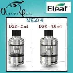 Clearomiseur Eleaf MELO 4 D25 4.5 ml - Cigarette électronique