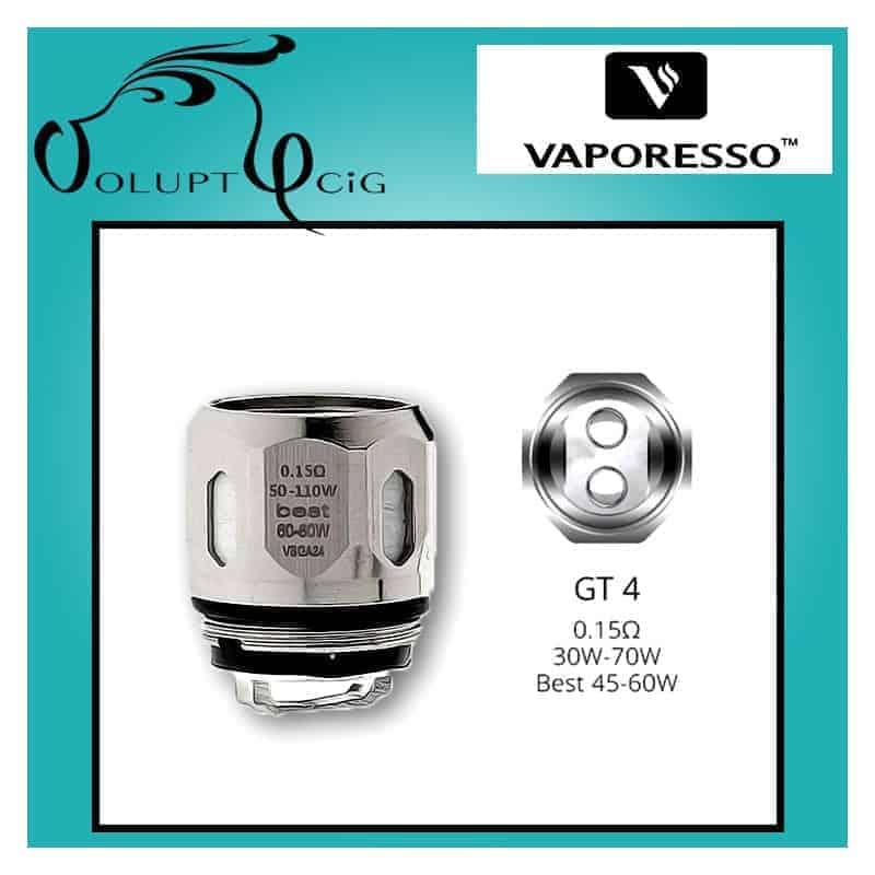 Résistance GT4 0.15 (30-70W) Vaporesso - Cigarette électronique