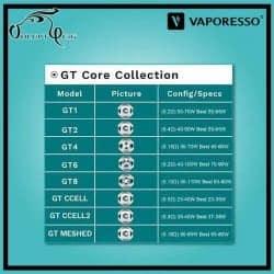 Résistances GT CCELL2 0.3 (35-40W) Vaporesso