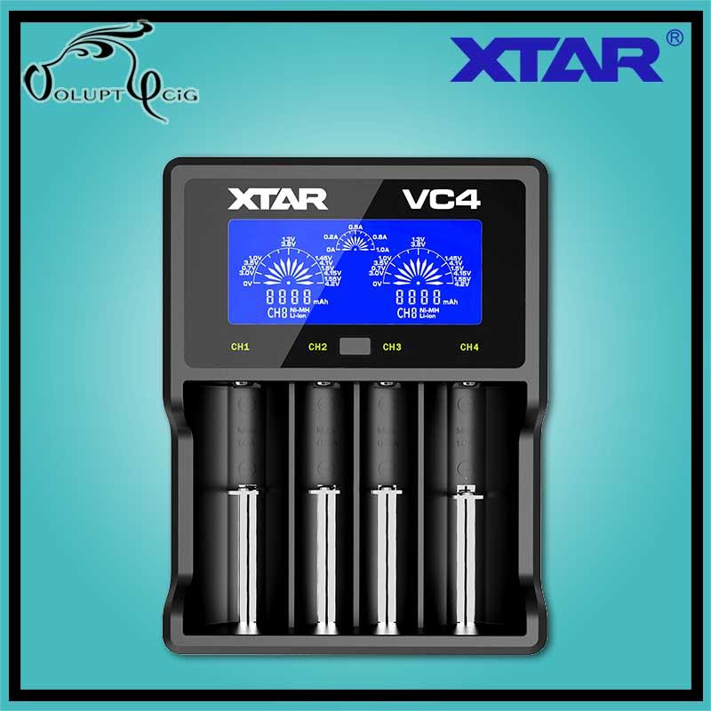 Chargeur Accu VC4 XTAR USB - Cigarette électronique