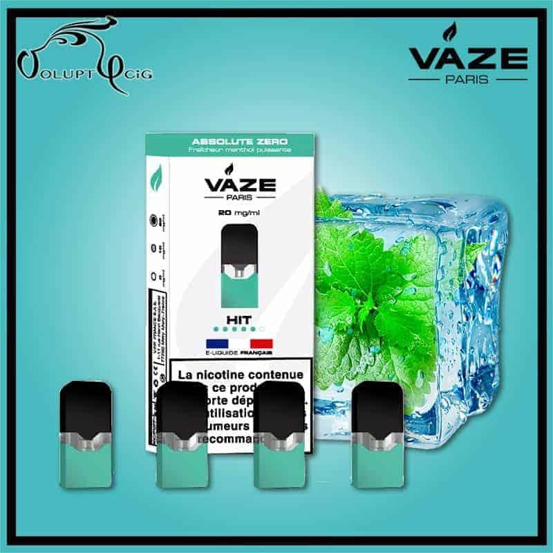 Cartouches x4 ABSOLUTE ZERO Vaze - Cigarette électronique Pod