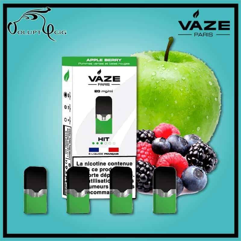 Cartouches x4 APPLE BERRY Vaze - Cigarette électronique Pod