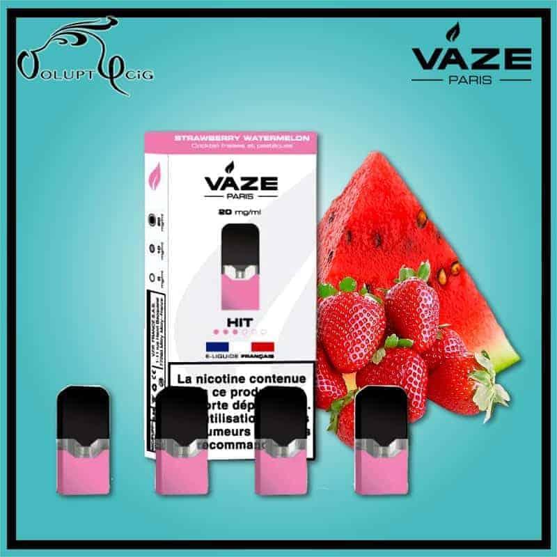 Cartouches x4 STRAWBERRY WATERMELON Vaze - Cigarette électronique Pod