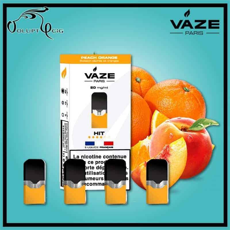 Cartouches x4 PEACH ORANGE Vaze - Cigarette électronique Pod