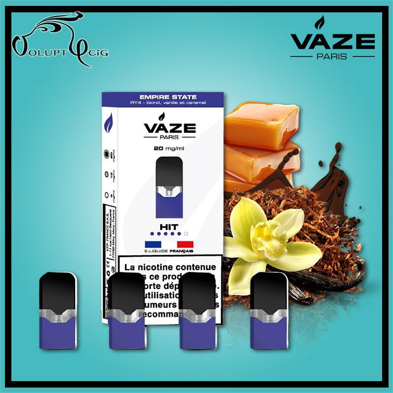 Cartouches x4 EMPIRE STATE (RY4) Vaze - Cigarette électronique Pod