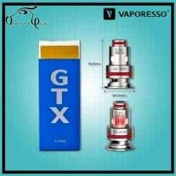 Résistances GTX MESH 0.6 Ohm Vaporesso - Cigarette électronique Pod