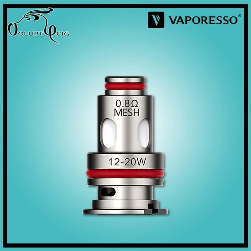 Résistances GTX MESH 0.8 Ohm Vaporesso - Cigarette électronique Pod