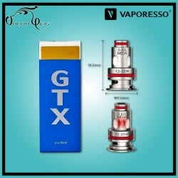 Résistances GTX MESH TARGET PM80 0.8 Ohm Vaporesso