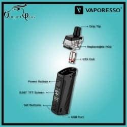 Kit Pod TARGET PM80 2000mAh  par Vaporesso