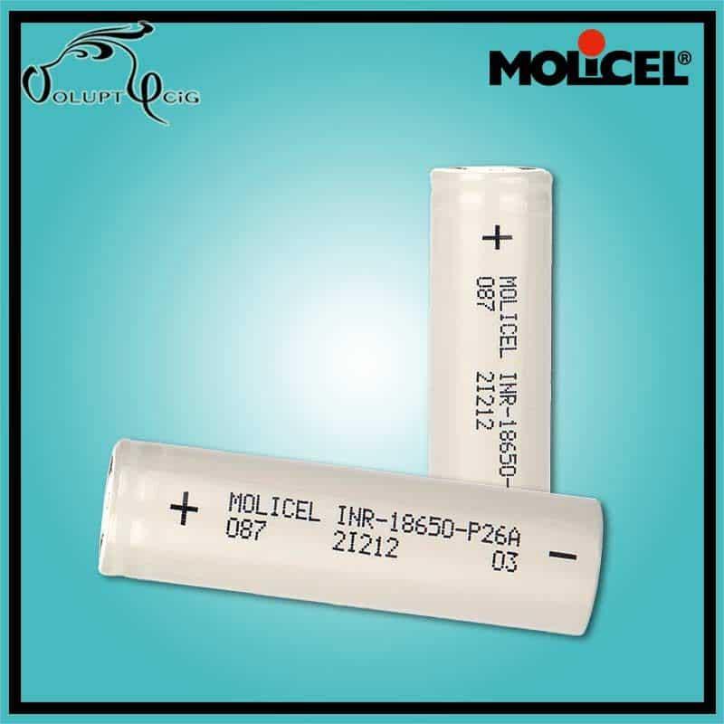 Accu MOLICEL P26A 18650 2600 mAh 25A - Cigarette électronique