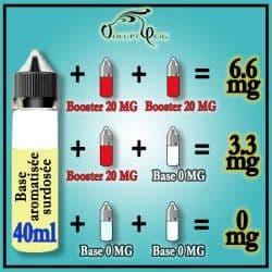 Dosage boosters nicotine THÉ JASMIN 40ml VIP Vaping In Paris