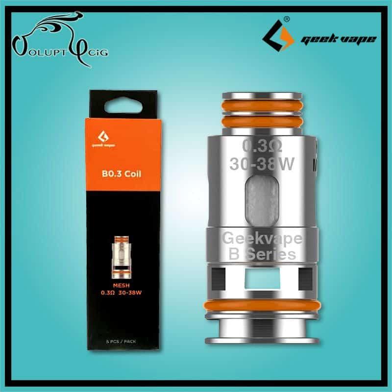 Résistances B Series 0.3 Geek Vape Aegis Boost - Cigarette électronique Pod