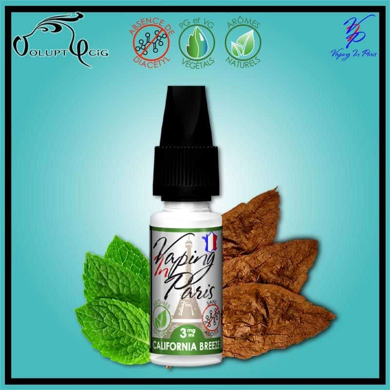 CALIFORNIA BREEZE 10ml Vaping In Paris
