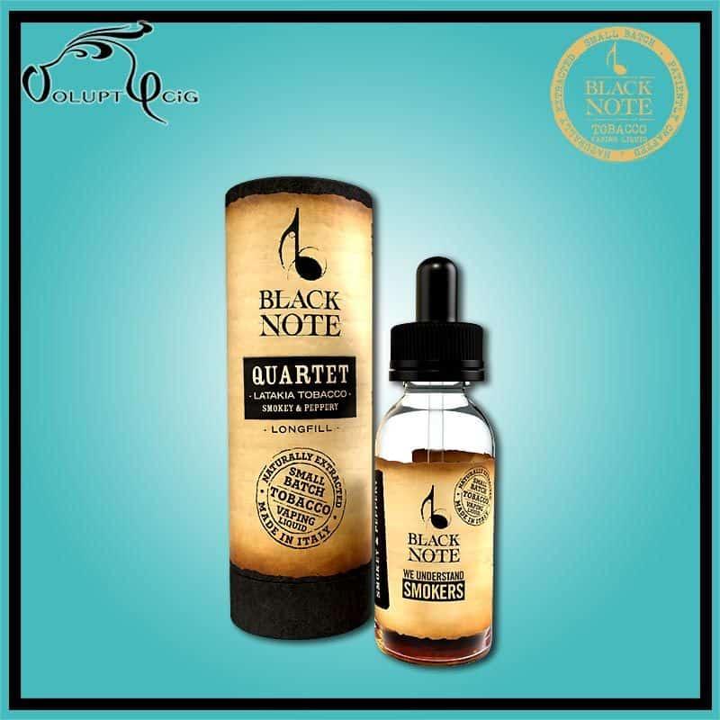 "QUARTET ""longfill"" 10ml (20 ml à booster) Black Note - Eliquide macérat tabac sans additf"