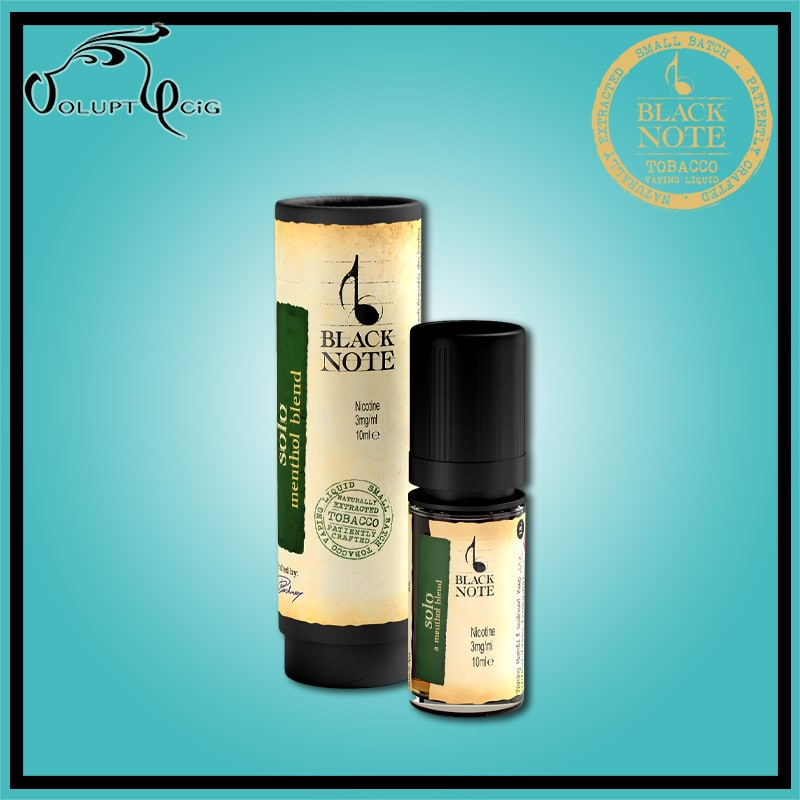 SOLO 10ml Black Note - Eliquide macérat tabac sans additf