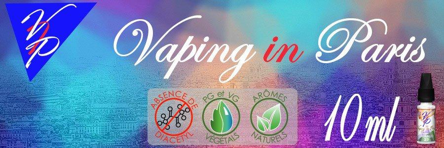 E-liquides Vaping In Paris 10 ml  arôme naturel sans additif