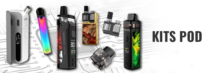 Cigarette electronique pod, e-cigarette compacte et facile