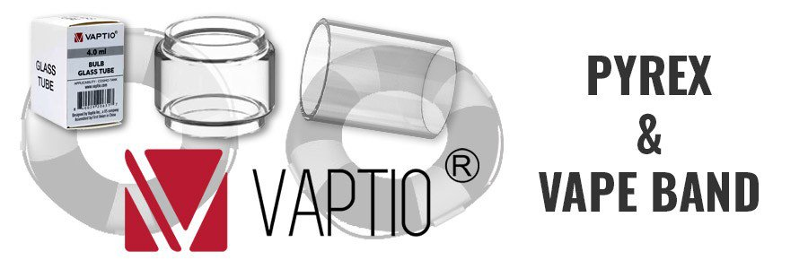 Pyrex verre remplacement cigarette electronique Vaptio