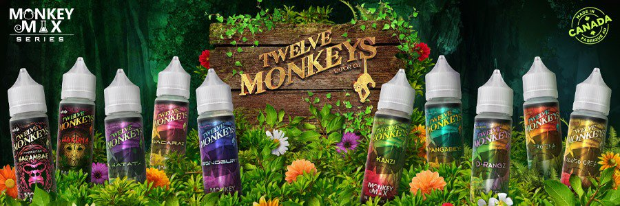 e-liquide Twelve Monkeys, eliquides Canada